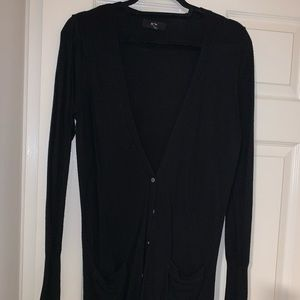Mossimo long black cardigan small